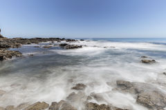 Pacific Wave Motion Blur at Abalone Cove Shoreline Park in Calif Stock Image