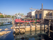 Pacific Wharf, Disney California Adventure Park Royalty Free Stock Photo