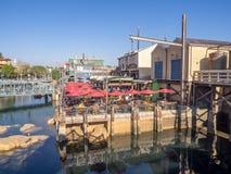Pacific Wharf, Disney California Adventure Park. ANAHEIM, CALIFORNIA - FEBRUARY 13: Pacific Wharf  at Disney California Adventure Park on February 13, 2016 in Royalty Free Stock Photo