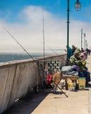 Pacifica California Fishing Image stock