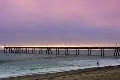Pacifica Municipal Pier Sunset. Stock Photography
