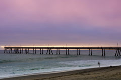 Pacifica Municipal Pier Sunset. Stock Photography