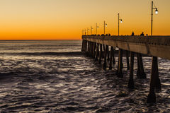 Pacifica Pier beach sunset Royalty Free Stock Photos