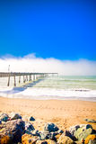 Pacifica Pier, Pacifica, California, sea wave Royalty Free Stock Photos