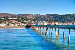 Pacifica Pier, Pacifica, California, sea wave royalty free stock photo