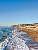 Pacifica Pier, Pacifica, California, sea wave Stock Photography