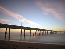 Pacifica Pier at Sunset Stock Photography