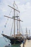 Pacificador atracado en el embarcadero de la marina de guerra Fotografía de archivo libre de regalías