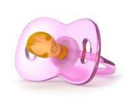 Pacificador rosado del silicón Fotografía de archivo