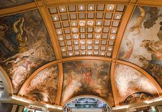 Pacifico Galleries in Downtown Buenos Aires. The famous Pacifico Galleries shopping mall with its frescoes in downtown Buenos Aires, Argentina Stock Images