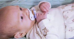 Младенец с pacifier акции видеоматериалы