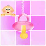 Pacifier for baby girl Royalty Free Stock Image