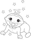 Pacifier coloring page Stock Image