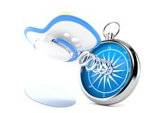 Pacifier with compass Stock Photos