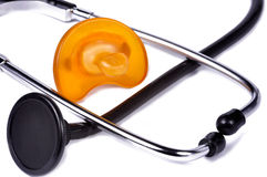 Pacifier and Stethoscope Stock Photos