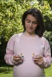 2 pacifiers в руках мамы Стоковая Фотография RF