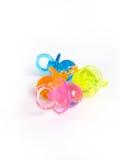 pacifiers пластичные Стоковая Фотография RF