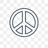 Pacifism vector icon isolated on transparent background, linear royalty free illustration