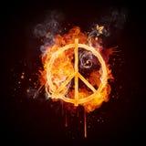 Pacifisme de remous d'incendie Images stock