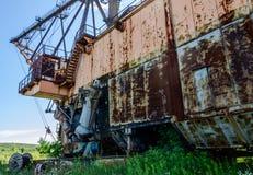 Pacing digger. Old rusty abandoned pacing digger Stock Photography