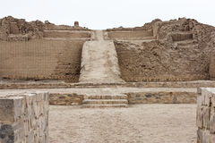 Pacjacamac. Site was once the most important religious center on the Peruvian coast in pre-Hispanic times Stock Photography