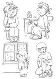 pacjenci royalty ilustracja