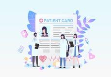 Pacjent karty lekarki Medycznej diagnozy dyskusja ilustracja wektor