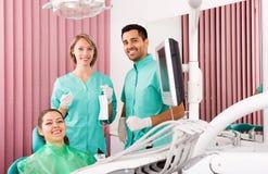 Pacjent w dentysty biurze Obrazy Stock