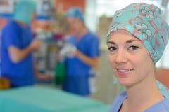Pacjent z nowotworem przed terapią zdjęcia stock