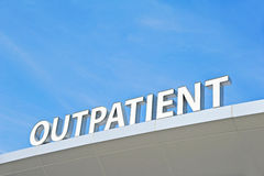 Pacjenta dochodzącego znak obraz royalty free