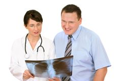 pacjentka doktora Obraz Royalty Free