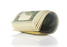 Pack of 100 dollars Stock Photography