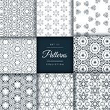 Pack of abstract patterns in floral style. Vector illustration royalty free illustration