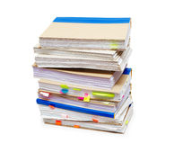Pack of account books. Isolated on a white background Royalty Free Stock Photography