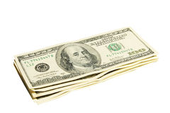 Pack of American money on the white background Royalty Free Stock Images