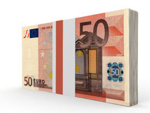 Pack of banknotes. Fifty euros. Stock Images