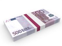 Pack of banknotes. Five hundred euros. Royalty Free Stock Image