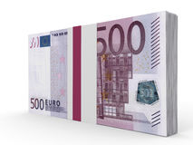 Pack of banknotes. Five hundred euros. Stock Images