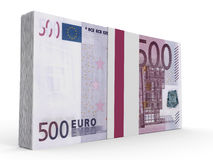 Pack of banknotes. Five hundred euros. Royalty Free Stock Photography