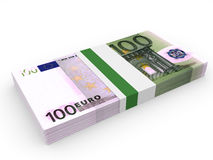Pack of banknotes. One hundred euros. Royalty Free Stock Images