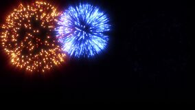 Pack of beautiful fireworks explosion