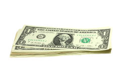 Pack of bills in one US dollar Royalty Free Stock Photos