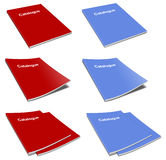 Pack of blank catatalogue template over white Stock Photo