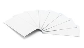 Pack of booklets on a white background. 3d illustration Stock Photos