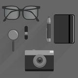 Pack for business journalist and web themes Stock Images
