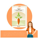 Pack of Carrot seeds icon Royalty Free Stock Images