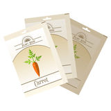 Pack of Carrot seeds icon Stock Image