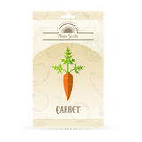 Pack of Carrot seeds icon. Vector image of the Pack of Carrot seeds icon Stock Photo