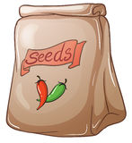A pack of chili seeds Stock Image