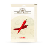 Pack of Chilli seeds icon Stock Photos